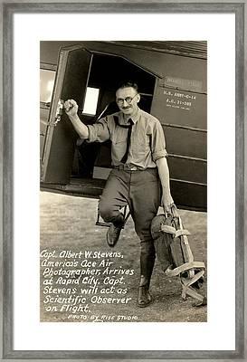 Captain Albert Stevens Framed Print