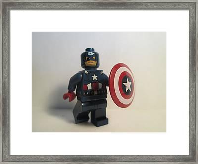 Captain America Framed Print by Harrison Matlock