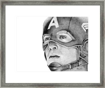 Captain America Framed Print by Kayleigh Semeniuk