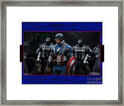 Captain America  Framed Print by Marvin Blaine