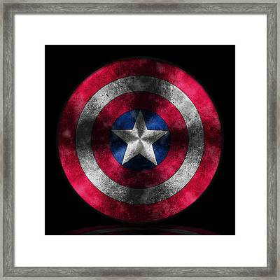 Captain America Shield Framed Print