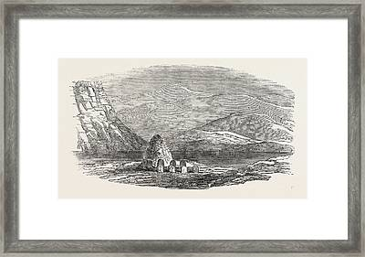 Captain Austins Arctic Expedition Cairn Left By The North Framed Print