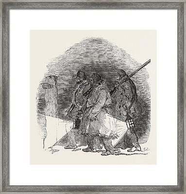 Captain Austins Arctic Expedition Going Out To Dinner Framed Print