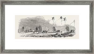 Captain Austins Arctic Expedition Western Division Framed Print