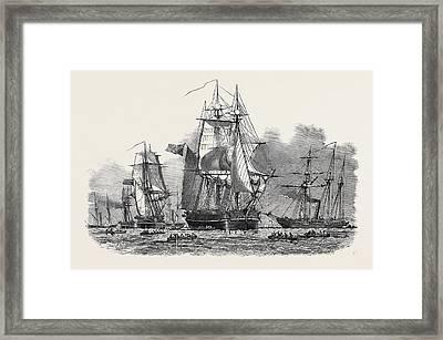 Captain Austins Expedition Framed Print