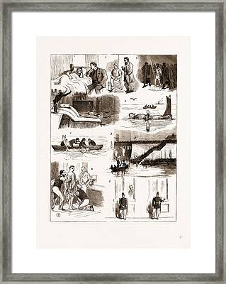 Captain Boytons Trip Across The Channel 1. A Rest Framed Print