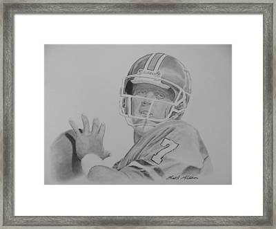 Captain Comeback Framed Print by Brent  Mileham