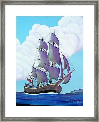 Captain Cook   Endeavor Framed Print