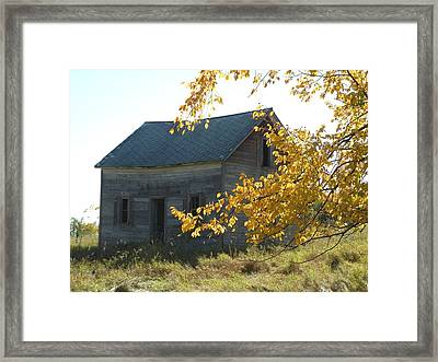 Framed Print featuring the photograph Captain Ed's Homestead by Penny Meyers