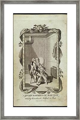 Captain Hawker And Mrs Bartlot Framed Print