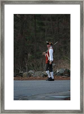Captain Isaac Davis Framed Print by Allan Morrison