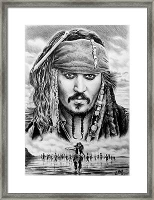 Captain Jack Sparrow 2 Framed Print