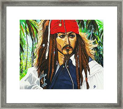 Captain Jack Sparrow Framed Print