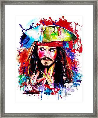 Captain Jack Sparrow  Framed Print by Isabel Salvador