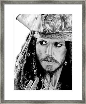 Captain Jack Sparrow Framed Print by Kayleigh Semeniuk