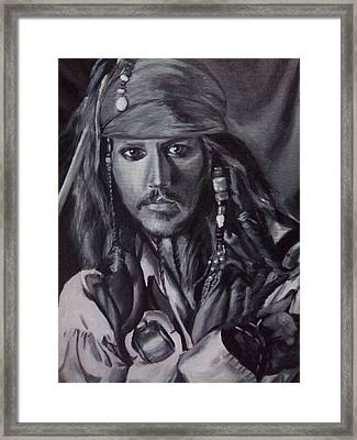 Captain Jack Sparrow Framed Print by Lori Keilwitz