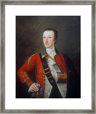 Captain James Gorry, 87th Regiment Framed Print by English School