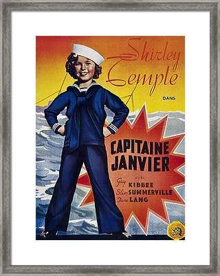 Captain January Aka Capitaine Janvier Framed Print by Everett