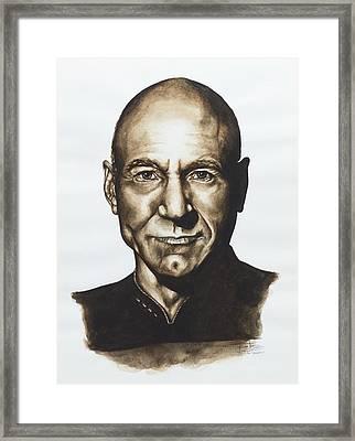 captain Jean Luc Picard Star Trek TNG Framed Print by Giulia Riva