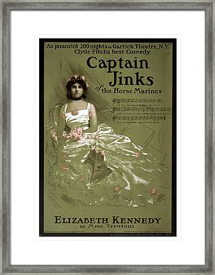 Captain Jinks Framed Print by Terry Reynoldson