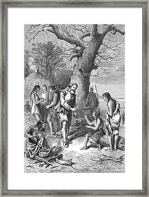 Captain John Smith, Powhatans Captive Framed Print by Photo Researchers