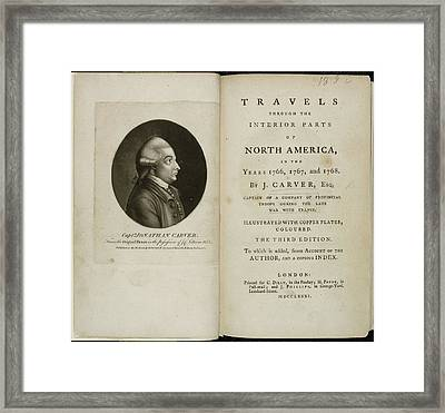Captain Jonathan Carver Framed Print by British Library