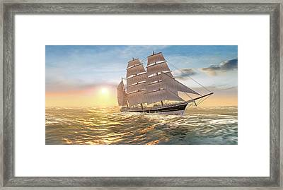 Captain Larry Paine Clippership Framed Print