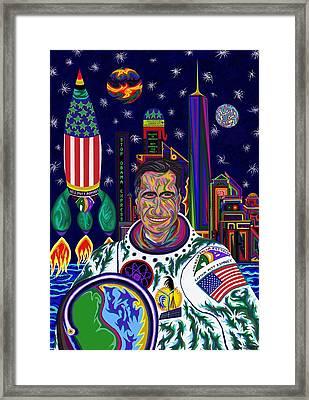 Captain Mitt Romney - American Dream Warrior Framed Print by Robert SORENSEN