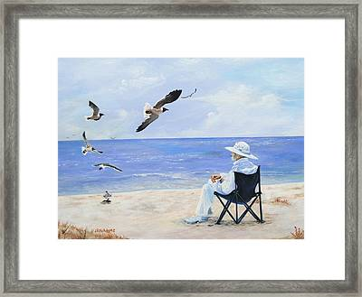 Framed Print featuring the painting Captain No More by James McAdams