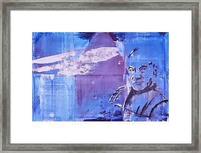 Captain Picard Framed Print by Sean Keil