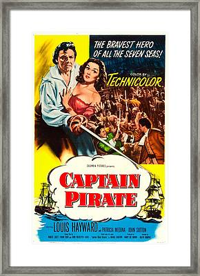 Captain Pirate, Aka Captain Blood Framed Print by Everett