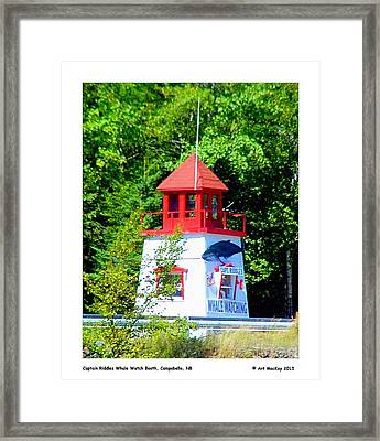 Captain Riddles Whale Watch Booth Framed Print by Art  MacKay