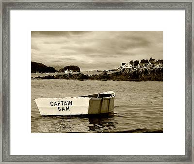Captain Sam Framed Print