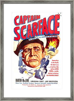 Captain Scarface, Us Poster, Barton Framed Print