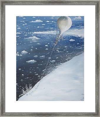 Captain Scott Antarcticas First Aeronaut Framed Print