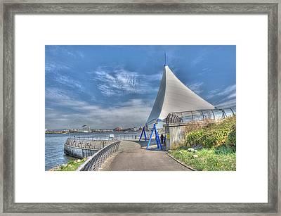Captain Scott Exhibition Sails Framed Print by Steve Purnell