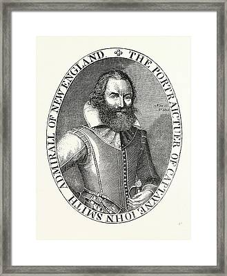 Captain Smith, From The Portrait In His Virginia Framed Print by English School