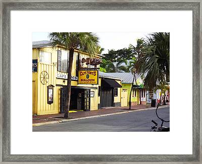 Captain Tony's Key West Framed Print by Jeanne Donnelly