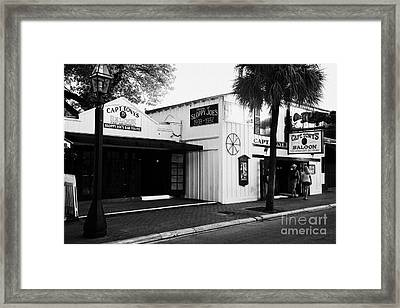 Captain Tonys Saloon Site Of The Original Sloppy Joes Bar Frequented By Ernest Hemingway Key West Fl Framed Print by Joe Fox