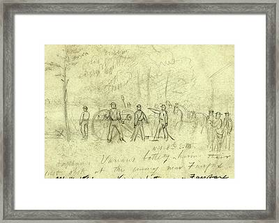 Captain Varians Battery N.y. 8th S.m Framed Print by Quint Lox