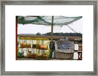 Captains And Crew Framed Print by Paula Rountree Bischoff