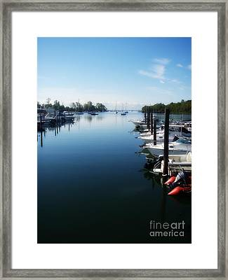 Captain's Cove Framed Print by Kristine Nora