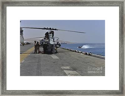 Captains Perform Pre-flight Checks Framed Print by Stocktrek Images