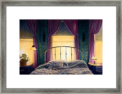Captain's Rest Framed Print by Cindy McIntyre