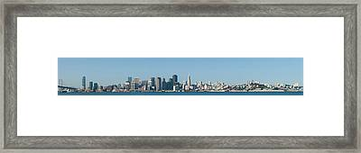 Captioncity At The Waterfront, San Framed Print