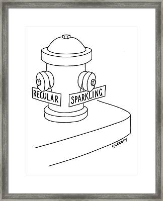 Captionless: Fire Hydrant With Regular Or Framed Print