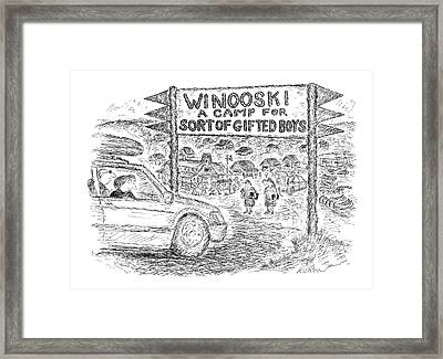 Captionless 'forestdale Camp For Sort Of Gifted Framed Print