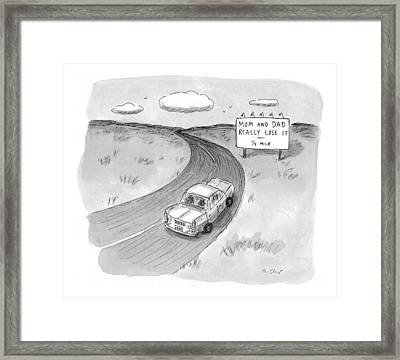 Captionless 'mom And Dad Really Lose It  -  1/4 Framed Print by Roz Chast