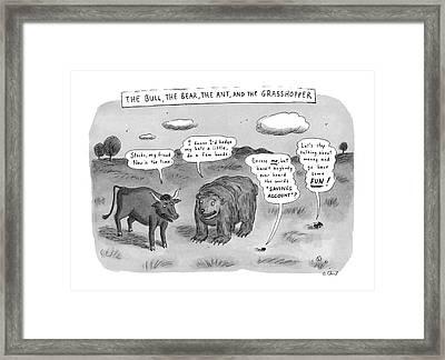 Captionless The Bull Framed Print