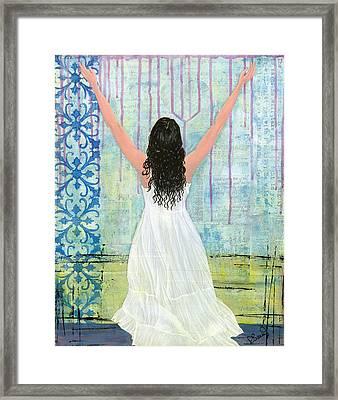 Captivated Framed Print by Debbie  Saenz